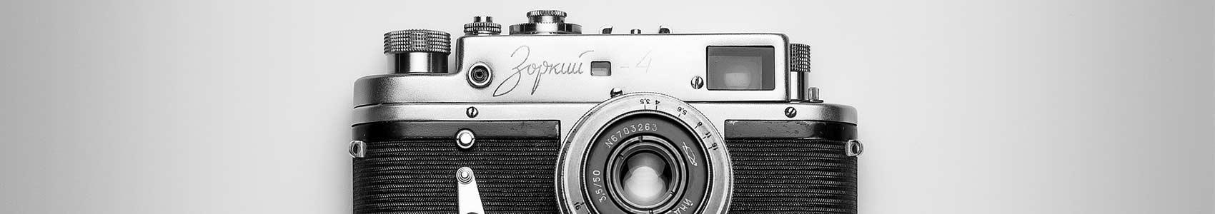 Appareil photo en noir et blanc - histoire de la photographie