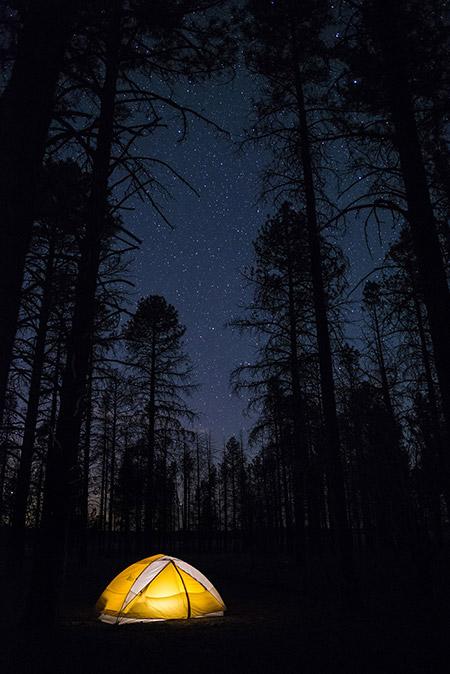Tente sous les étoiles